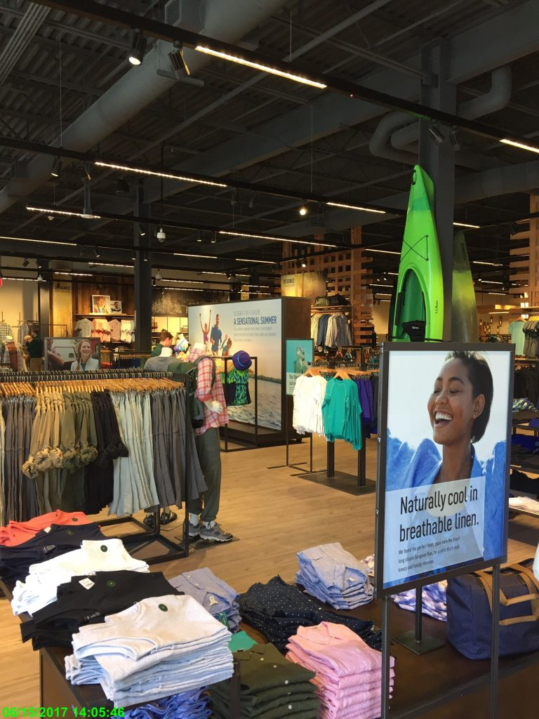 Clothing and other merchandise inside L.L.Bean Store