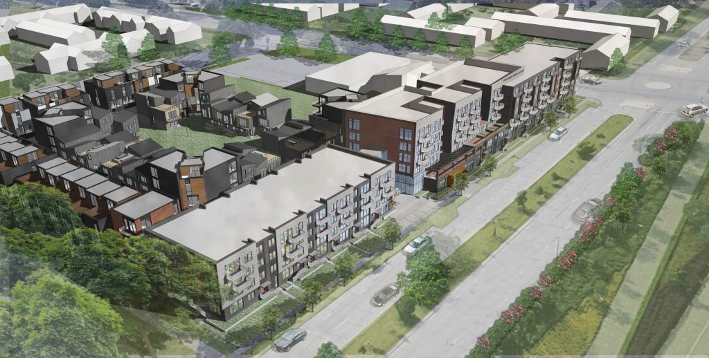A birds-eye-view of the multifamily complex