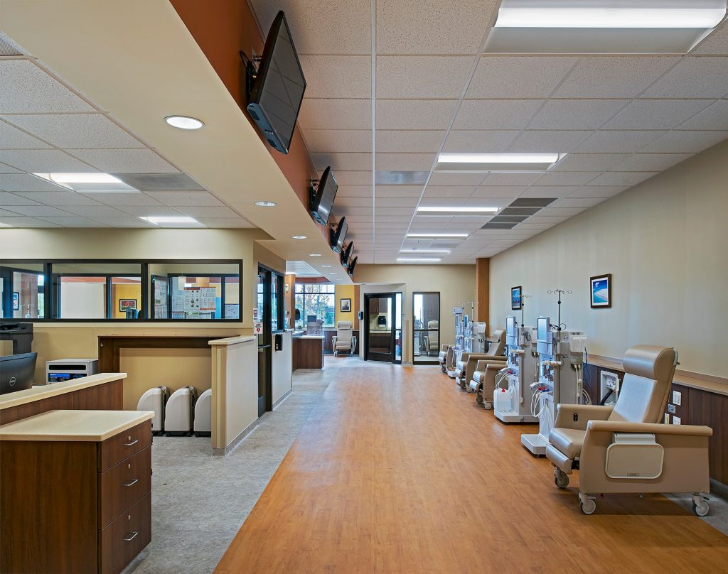 A picture of the inside of a medical office building