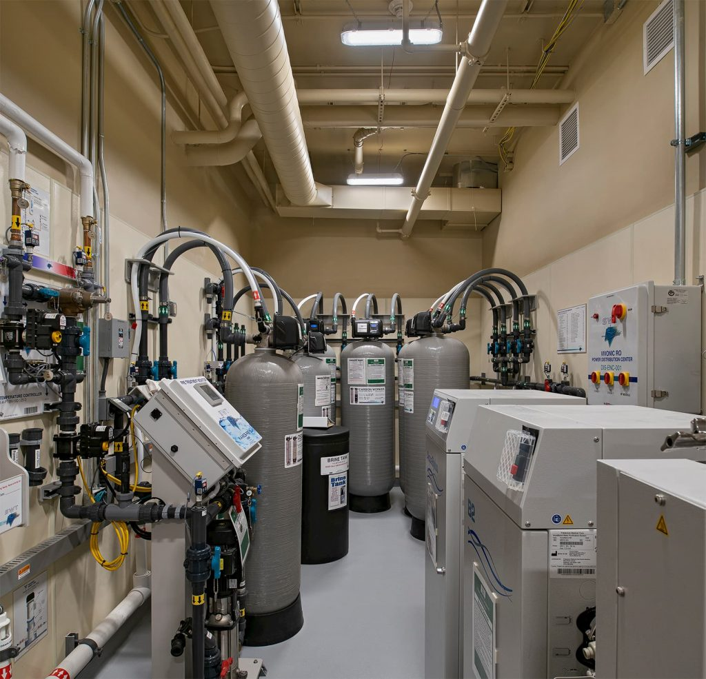 A picture of an equipment room