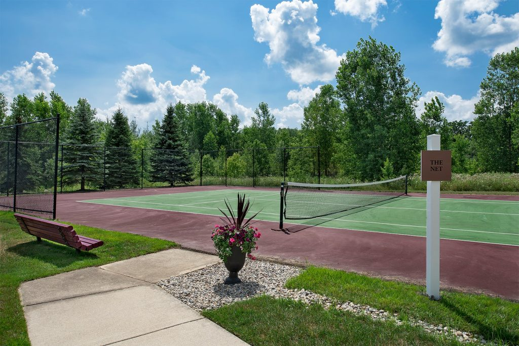 A picture of tennis courts