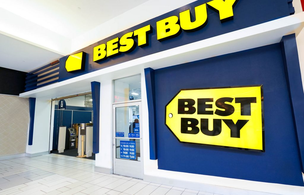 An exterior image of a Best Buy store