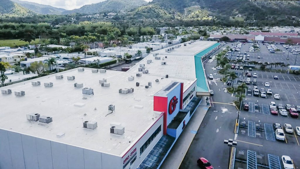 An image of a completed mall