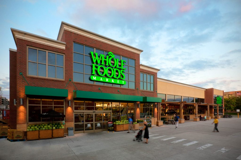A picture of the outside of a Whole Foods