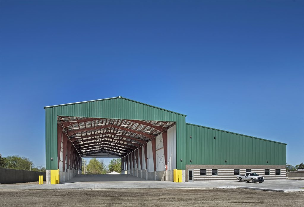 a photo from one of sachse construction's industrial construction projects